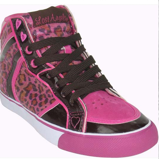Lost Angels Leopard Glam High Pink