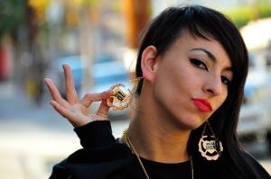 Lindsey in Miss Wax Earrings (Photo by Cole Walliser)