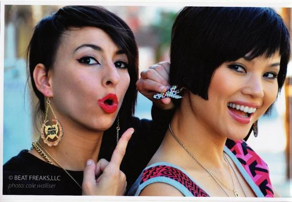 Lindsey and Rino wearing Miss Wax earrings (Photo by Cole Walliser)