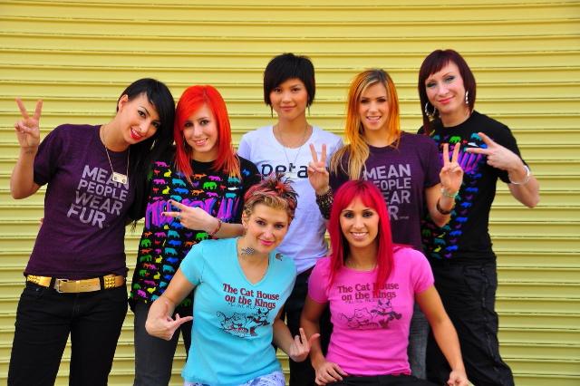 Beat Freaks wearing PETA shirts (Photo by Cole Walliser)
