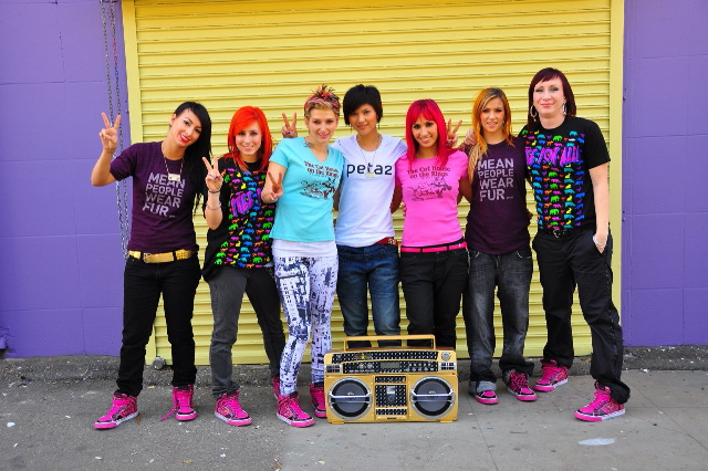 Beat Freaks in PETA tees & Lost Angels shoes (Photo by Cole Walliser)