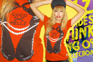 Coco x Hellz tee