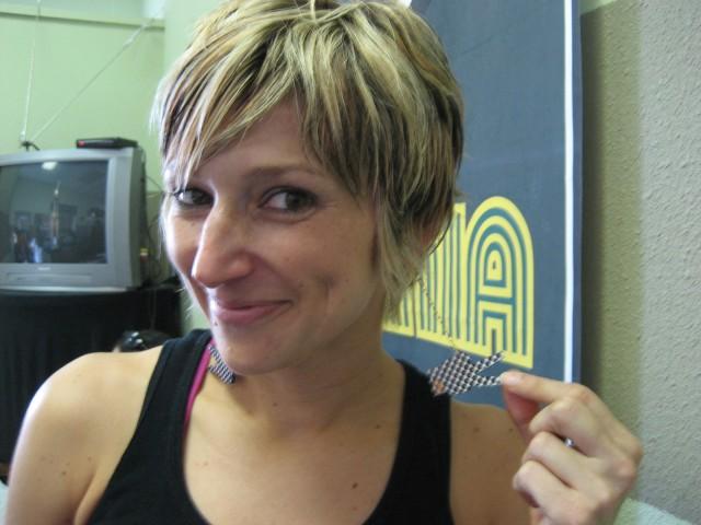 Miss Wax Earrings on Lady Jules