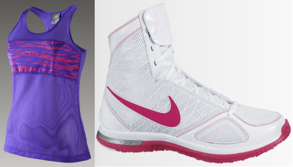 Nike Aqua Mesh Tank and Nike Zoom Bold Sister MD+ Women's Training Shoe