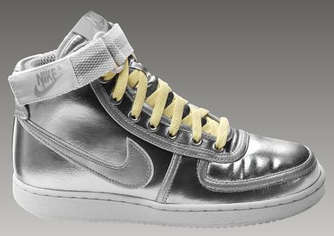 Nike Vandal High Premium Women's Shoe in Metallic Silver