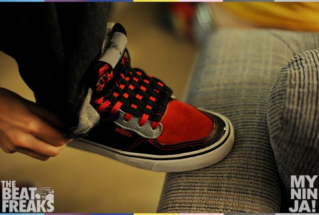 Punkrose Shoes with Checkboard Lacing